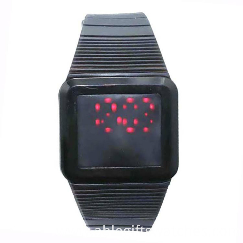 black touch digital watch